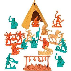 Miniatura Colecionavel Forte Apache Indio Acampamento Gulliver