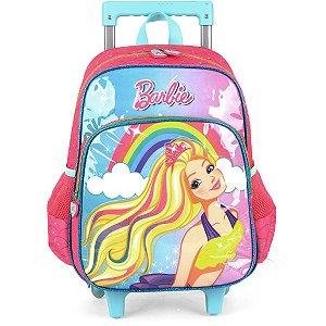 Mochila De Carrinho Barbie Gd 2 Bolsos Turquesa Luxcel