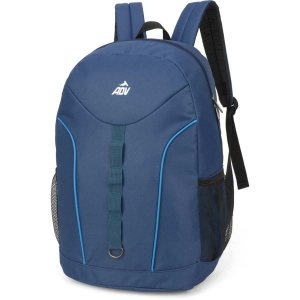 Mochila Escolar Adv Gd 2Bolsos Azul Luxcel