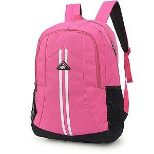 Mochila Escolar Adv Gd 3Bolsos Pink Luxcel