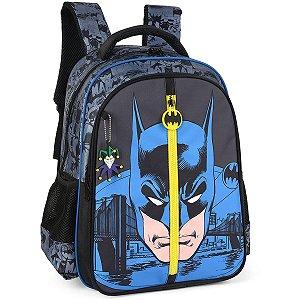 Mochila Escolar Batman Gd 3Bolsos Preto Luxcel