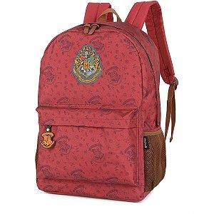 Mochila Escolar Harry Potter Gd 3Bolsos Vermel Luxcel