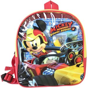 Mochila Escolar Mickey Mouse C/livros+Acessor. Dcl