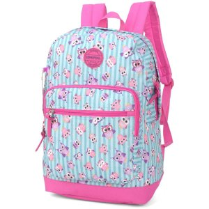 Mochila Escolar Up4You Gd 2Bolsos Pink Luxcel