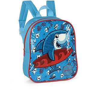 Mochila Escolar Up4You Petit Tubarao Pq Azul C Luxcel