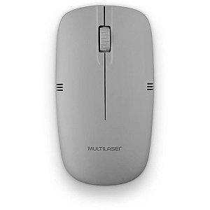 Mouse Optico Sem Fio Cinza 2.4Ghz Usb 1200Dpi Multilaser