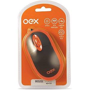 Mouse Optico Usb 800Dpi Preto/laranja Newex