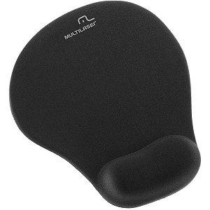 Mouse Pad Gel Preto C/ Apoio Multilaser