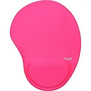 Mouse Pad Tecido Pink 19X25Cm C/apoio Reflex