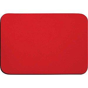 Mouse Pad Tecido Vermelho Emborrachado Reflex