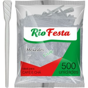 Palheta Plastica Cafe Cristal Rioplastic