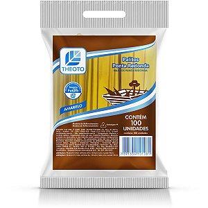 Palito De Madeira P/sorvete Ponta Redonda Amar. Theoto