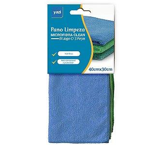 Pano De Limpeza Microfibra Top Clean Sortidos Yangzi