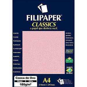 Papel A4 Casca De Ovo Rosa 180G. Filiperson