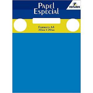 Papel A4 Color Color Mais Azul Royal 180G. Romitec