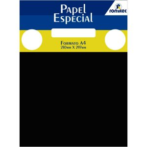 Papel A4 Color Color Mais Preto 180G. Romitec
