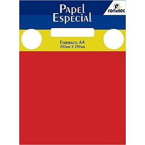 Papel A4 Color Color Mais Vermelho 120G. Romitec