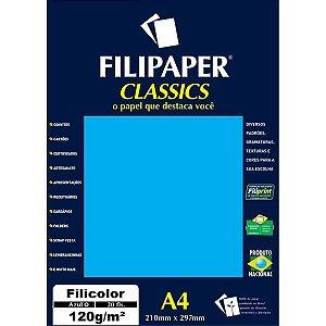 Papel A4 Color Filicolor Azul 120G. Filiperson