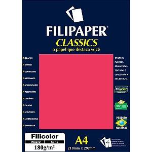 Papel A4 Color Filicolor Pink 180G. Filiperson