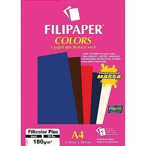Papel A4 Color Filicolor Plus Azul 180G. Filiperson