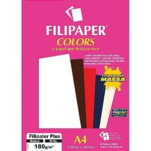 Papel A4 Color Filicolor Plus Branco 180G. Filiperson