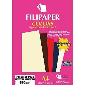 Papel A4 Color Filicolor Plus Creme 180G. Filiperson