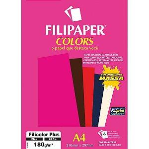 Papel A4 Color Filicolor Plus Pink 180G. Filiperson