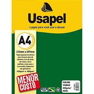Papel A4 Color Usapel Verde 180G. Filiperson