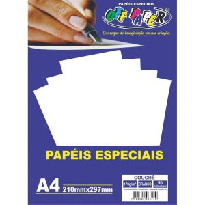 Papel A4 Couche Branco 170G Off Paper