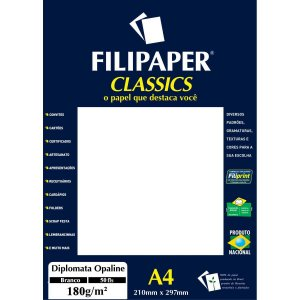 Papel A4 Diplomata Branco Opaline 180G. Filiperson
