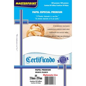 Papel A4 Diplomata Branco Premium 180G. Masterprint