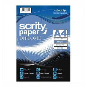 Papel A4 Diplomata Of Branco 180G. Scrity