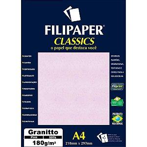 Papel A4 Granito Pink 180G. Filiperson
