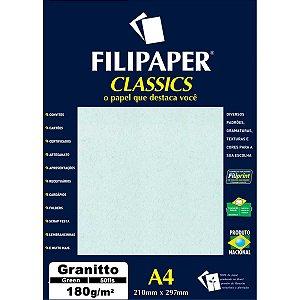 Papel A4 Granito Verde 180G. Filiperson