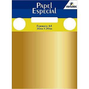 Papel A4 Metalico Color Mais Ouro 120G Romitec