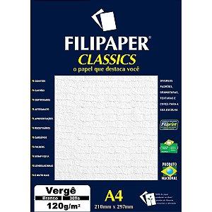 Papel A4 Verge Branco 120G. Filiperson