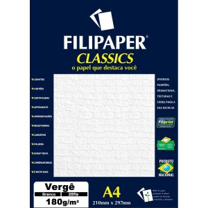 Papel A4 Verge Branco 180G. Filiperson
