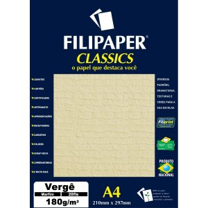 Papel A4 Verge Marfim 180G. Filiperson