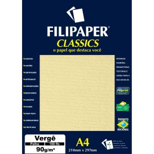 Papel A4 Verge Palha  90G. Filiperson