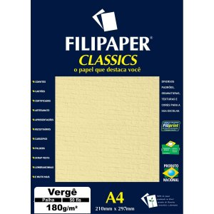 Papel A4 Verge Palha 180G. Filiperson