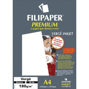 Papel A4 Verge Premium Branco 180G. Filiperson