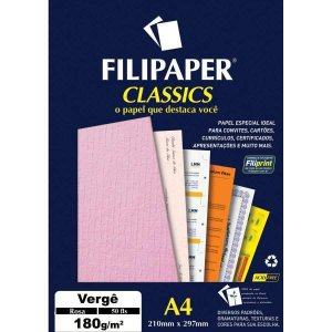 Papel A4 Verge Rosa 180G. Filiperson