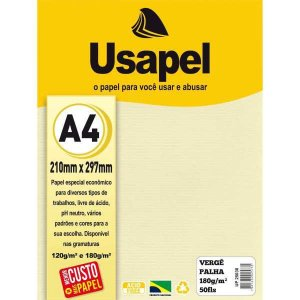 Papel A4 Verge Usapel Palha 180G. Filiperson