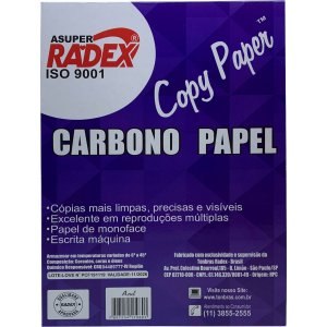 Papel Carbono Para Lapis A4 Papel Azul Radex