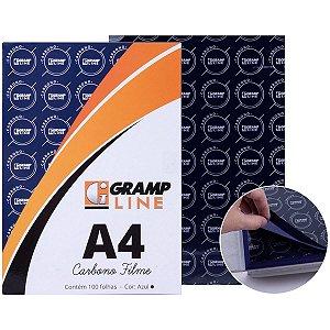 Papel Carbono Para Lapis Filme A-4 Azul Gramp Line