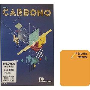 Papel Carbono Para Lapis Laranja 220X330Mm P/escrita Ma Printers