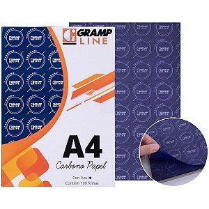 Papel Carbono Para Lapis Papel A4 Azul Ge 927 Gramp Line