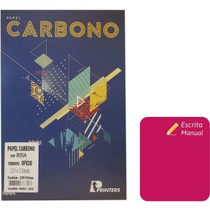 Papel Carbono Para Lapis Rosa 220X330Mm P/escrita Manua Printers
