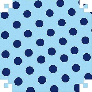 Papel Cartolina Dupla Face Dec.azul C/bolinhas 150G.48X66 V.m.p.