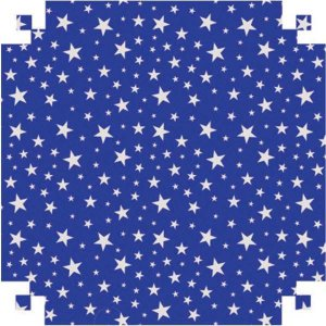 Papel Cartolina Dupla Face Dec.azul C/estrelas 150G.48X66 V.m.p.